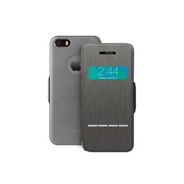 SenseCover Coque avec rabat frontal tactile pour iPhone 5 5S SE noir-1