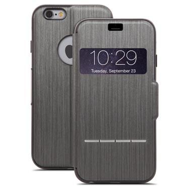 SenseCover Coque avec rabat frontal tactile pour iPhone 6 6S noir