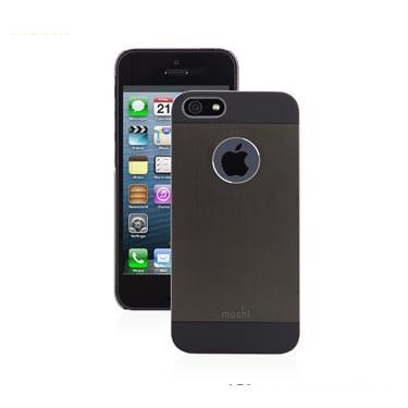 iGlaze Armour Coque aluminium ultra fine pour iPhone-5 5S SE noir